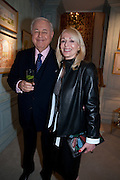 ALFRED TAUBMAN; JUDY TAUBMAN, An exhibition of watercolours by William Rayner at Mallet's, New Bond St. Party afterwards at Bellami's, bruton Place. London. 16 June 2010. .-DO NOT ARCHIVE-© Copyright Photograph by Dafydd Jones. 248 Clapham Rd. London SW9 0PZ. Tel 0207 820 0771. www.dafjones.com.