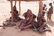 Himba tribe village, Kaokoveld, Namibia, Africa