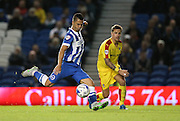 Brighton central midfielder, Beram Kayal shoots during the Sky Bet Championship match between Brighton and Hove Albion and Rotherham United at the American Express Community Stadium, Brighton and Hove, England on 15 September 2015.