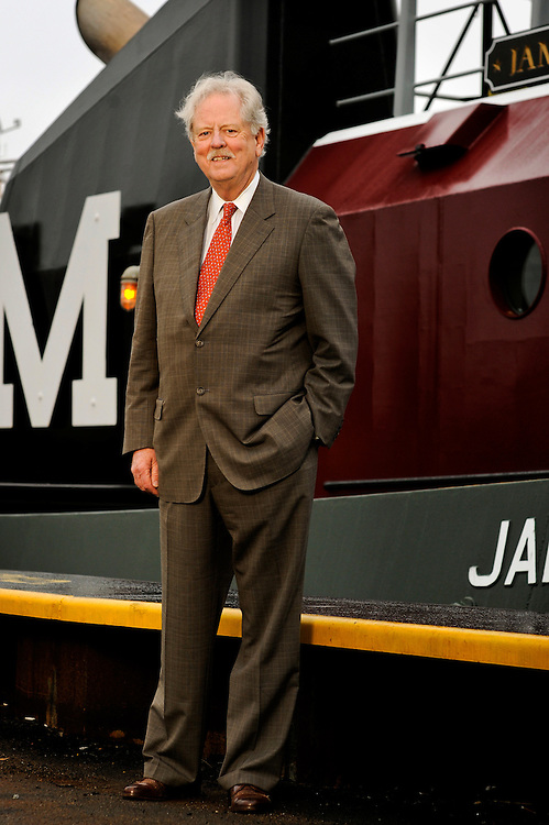 Georgia Ports Authority Chairman of the Board Robert Jepson in front of City Hall on a the Moran Tug James Moran on Wednesday, Nov. 28, 2012 in Savannah, Ga. (Photo/Stephen Morton)