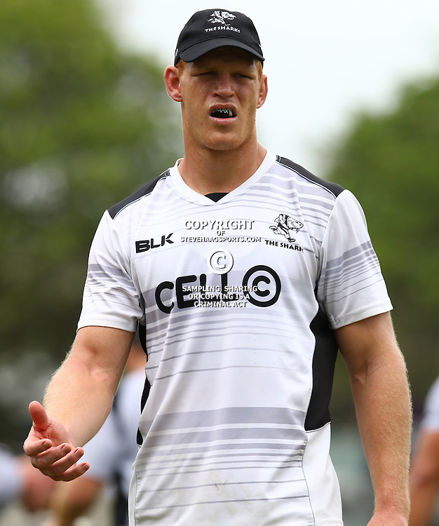 DURBAN, SOUTH AFRICA - JANUARY 13: Phillip van der Walt during the Cell C Sharks training session at Growthpoint Kings Park on January 13, 2017 in Durban, South Africa. (Photo by Steve Haag/Gallo Images)