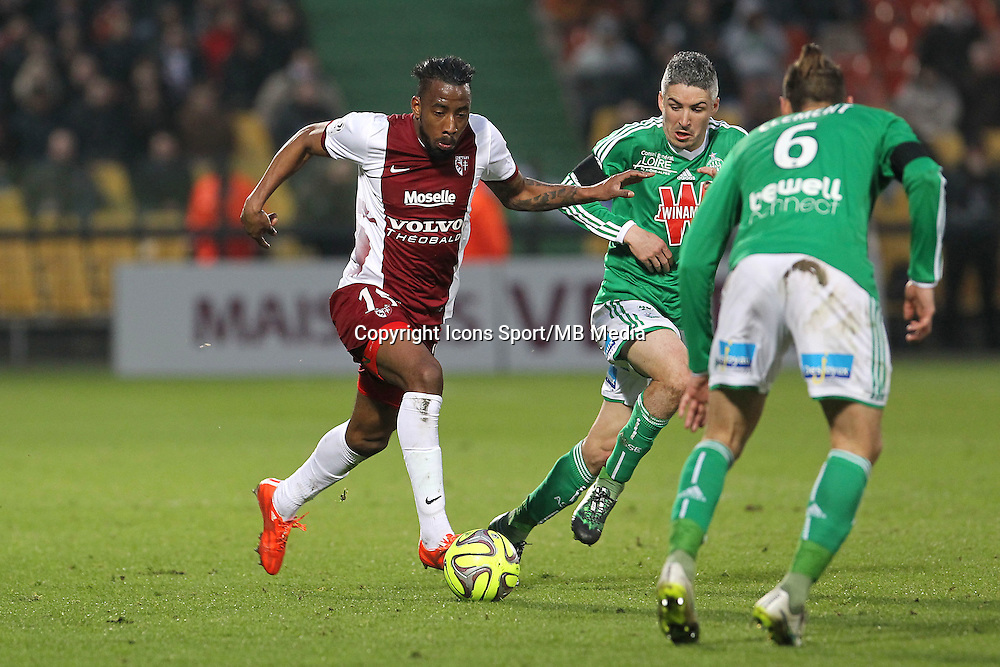 Romain METANIRE - 14.03.2015 - Metz / Saint Etienne - 29e journee Ligue 1<br /> Photo : Fred Marvaux / Icon Sport