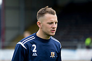 14th September 2019; Dens Park, Dundee, Scotland; Scottish Championship, Dundee Football Club versus Alloa Athletic; Scott Taggart of Alloa Athletic during the warm up before the match