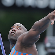 Guillermo Martinez, Cuba, in action in the Men's Javelin competition during the Diamond League Adidas Grand Prix at Icahn Stadium, Randall's Island, Manhattan, New York, USA. 13th June 2015. Photo Tim Clayton