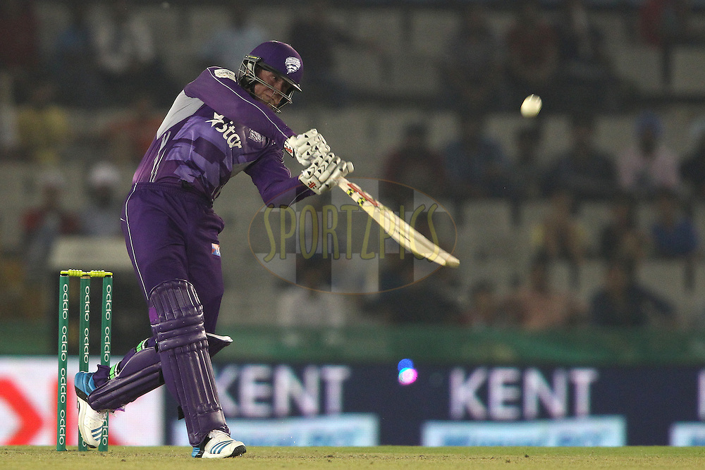 Ben Dunk of the Hobart Hurricanes miss times his shot and skies it to be caught by Glenn Maxwell of the Kings XI Punjab during match 2 of the Oppo Champions League Twenty20 between the Kings XI Punjab and the Hobart Hurricanes held at the Punjab Cricket Association Stadium, Mohali, India on the 18th September 2014<br /> <br /> Photo by:  Shaun Roy / Sportzpics/ CLT20<br /> <br /> <br /> Image use is subject to the terms and conditions as laid out by the BCCI/ CLT20.  The terms and conditions can be downloaded here:<br /> <br /> http://sportzpics.photoshelter.com/gallery/CLT20-Image-Terms-and-Conditions-2014/G0000IfNJn535VPU/C0000QhhKadWcjYs