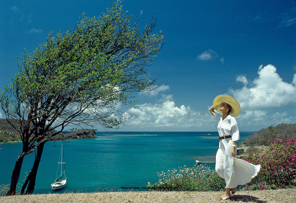 Arriving for brunch, Secret Harbour Resort, Grenada, West Indies - Nautica Brand Campaign