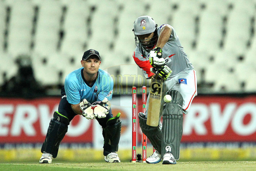 Ali Khan during 2nd Qualifying match of the Karbonn Smart CLT20 South Africa between Auckland Aces and Sialkot Stallions held at The Wanderers Stadium in Johannesburg, South Africa on the 9th October 2012..Photo by Ron Gaunt/SPORTZPICS/CLT20