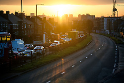 © Licensed to London News Pictures. 11/02/2019. London, UK. Large queues of traffic where roads are closed in both directions on the A40 at The scene where two people have died and a third was injured in a collision with a coach in Acton, West LondonPhoto credit: Ben Cawthra/LNP