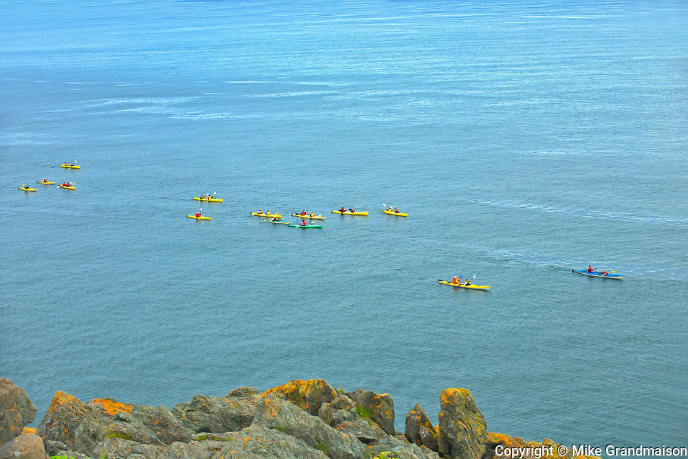 Kayaks in Bay of Fundy<br />
