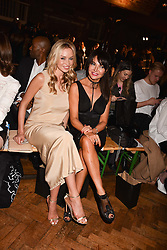 Noelle Reno & Lizzie Cundy at PPQ LFW Autumn Winter 2017 show, Crypt on the Green, Clerkenwell, London England. 17 February 2017.