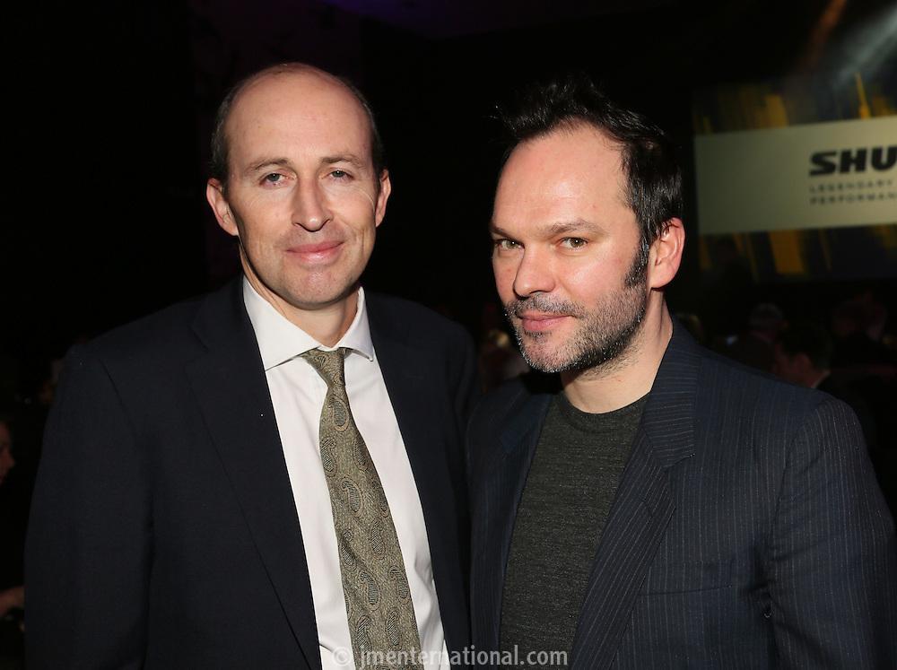Peter Leathem and Nigel Godrich (r) - The Music Producers Guild Awards :Thursday, Feb 13. 2014 (Photo John Marshall/JM Enternational)