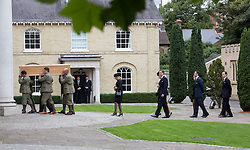 LONDON - UK - 11- SEPT - 2013: Britain's Prince Charles, The Prince of Wales,accompanied by Camilla, The Duchess of Cornwall and his sons Prince WIlliam and Prince Harry attend the funeral of Charles's close friend Hugh Van Cutsem at Brentwood Cathedral in Essex.<br /> The Van Cutsem family<br /> Photo by Ian Jones