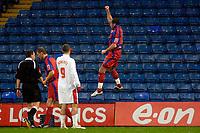Photo: Alan Crowhurst.<br />Crystal Palace v Swindon Town. The FA Cup. 06/01/2007.<br />Palace's Shefki Kuqi (R) celebrates his goal 1-0.