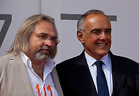 Director Victor Kossakovsky and Festival director Alberto Barbera at the premiere gala screening of the film Aquarela at the 75th Venice Film Festival, Sala Grande on Saturday 1st September 2018, Venice Lido, Italy.