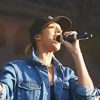 Alesha Dixon appearing on stage at Pride Trafalgar Square