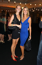 Left to right, MISS POPPY DELEVINGNE and MISS AYESHA MAKIM niece of Sarah, Duchess of York at a party to celebrate 'Made in Italy at Harrods' - a celebration of Italian fashion food and wine, design and interiors, art and photography, cinema and music, beauty and glamour.  The party was held in the Georgian Restaurant at Harrods, Knightsbridge, London on 9th September 2004.<br /><br />PICTURES LICENCED UNTIL 9/3/2004 FOR USE TO PROMOTE THE 'MADE IN ITALY' EVENT/S ONLY.