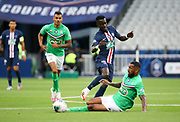 Idrissa Gueye Gana of PSG, Yann M'Vila of Saint-Etienne during the French Cup final football match between Paris Saint-Germain (PSG) and Saint-Etienne (ASSE) on Friday 24, 2020 at the Stade de France in Saint-Denis, near Paris, France - Photo Juan Soliz / ProSportsImages / DPPI