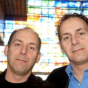NLD/Hilversum/20070305 - Fotoshoot poppen de Fabeltjeskrant Musical, Alain en Robin de Levita