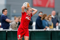 Flo Allen of Bristol City Women takes a throw in - Mandatory byline: Rogan Thomson/JMP - 09/07/2016 - FOOTBALL - Stoke Gifford Stadium - Bristol, England - Bristol City Women v Milwall Lionesses - FA Women's Super League 2.