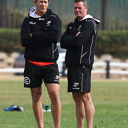 DURBAN, SOUTH AFRICA Monday 29th June 2015 - /shrs/ with Sean Everitt (Assistant Coach) during the Cell C Sharks Conditioning training session at Growthpoint Kings Par in Durban, South Africa. (Photo by Steve Haag)