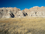 View of Badlands National Park on an early spring day; South Dakota, USA.