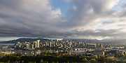 City skyline views of Vancouver, B.C. Canada