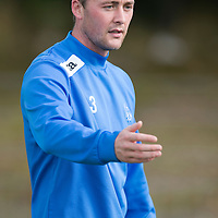 St Johnstone Training....20.09.13<br /> Tom Scobbie pictured in training<br /> Picture by Graeme Hart.<br /> Copyright Perthshire Picture Agency<br /> Tel: 01738 623350  Mobile: 07990 594431