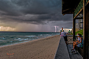 Lightning strike during a storm of the coast of Boca Raton