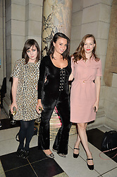 Left to right, ROSE DOUGALL, GIZZI ERSKINE  and LOU HAYTER at a private view of Revolution: Records and Rebels 1966-1970 at the V&A, London on 7th September 2016.