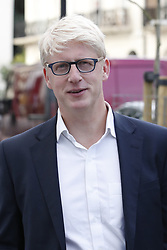 © Licensed to London News Pictures. 05/09/2019. London, UK. Jo Johnson, brother of Prime Minister Boris Johnson, is seen near his house after his resignation announcement earlier today. Photo credit: Peter Macdiarmid/LNP