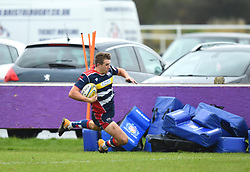 George Perkins of Bristol United opens the scoring - Mandatory by-line: Paul Knight/JMP - 18/11/2017 - RUGBY - Clifton RFC - Bristol, England - Bristol United v Gloucester United - Aviva A League