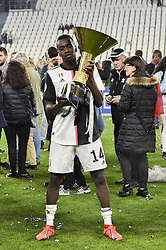 May 19, 2019 - Turin, Turin, Italy - Blaise Matuidi of Juventus FC lifts the trophy of Scudetto  2018-2019 at Allianz Stadium, Turin (Credit Image: © Antonio Polia/Pacific Press via ZUMA Wire)