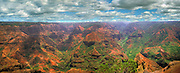 "Incredible Waimea Canyon on the Garden Isle of Kauai Hawaii, ""Grand Canyon of the Pacific."""