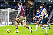 Jack Grealish (Capt) (Aston Villa) & Steve Alzate (Brighton) during the Premier League match between Brighton and Hove Albion and Aston Villa at the American Express Community Stadium, Brighton and Hove, England on 18 January 2020.