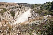 Disused quarry, Isle of Portland, Dorset, England, UK