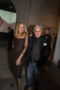 JERRY HALL; DIEGO LA VALLE, Vogue100 A Century of Style. Hosted by Alexandra Shulman and Leon Max. National Portrait Gallery. London. WC2. 9 February 2016.