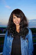 AMSTERDAM - Op het dakterras van Q-Music is een bijzonder miniconcert gehouden. Met hier op de foto  de Noorse popster Maria Mena. FOTO LEVIN DEN BOER - PERSFOTO.NU