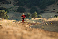 Tim Tweitmeyer trail running on the Cronan Ranch near Auburn, CA.