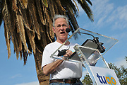 Tucson Mayor Jonathan Rothschild speaks before the Tugo Bike Share Ride-Out