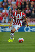 Stoke City's Marco van Ginkel about to launch a long ball during the Barclays Premier League match between Stoke City and Leicester City at the Britannia Stadium, Stoke-on-Trent, England on 19 September 2015. Photo by Aaron Lupton.
