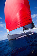 Ghost sailing in the 2010 St. Barth's Bucket superyacht regatta, race 1.