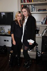 Left to right, LOUISE REDKNAPP and AMBER LE BON at a breakfast hosted by Bobbi Brown - the cosmetics company held at Morton's, 28 Berkeley Square, London on 8th December 2009.