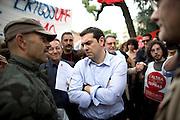 Alexis Tsipras, leader di Syriza e candidato alla presidenza della commissione europea per il partito della Sinistra Europea, Milano 19 maggio 2014. Guido Montani / OneShot