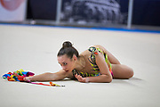 Asia Novelli from Etruria team during the Italian Rhythmic Gymnastics Championship in Padova, 25 November 2017.