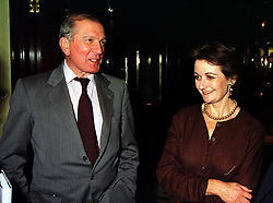 MR NIGEL & LADY CAMILLA DEMPSTER, at a party in London on 6th October 1999.MXG 60 2olo