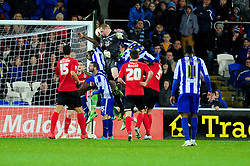 Sheffield Wednesday's Chris Kirkland goes up for a header from a corner - Photo mandatory by-line: Dougie Allward/Josephmeredith.com  - Tel: Mobile:07966 386802 01/12/2012 - SPORT - FOOTBALL - Championship  -  Cardiff  -  New Cardiff Stadium  -  Cardiff City V Sheffield Wednesday