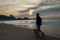 Sunrise on Copacabana beach. Rio de Janeiro, Brazil