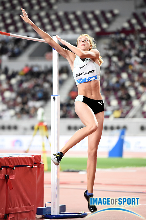 Yaroslava Mahuchikh (UKR) wins the women's high jump at 6-5 (1.96m) the IAAF Doha Diamond League 2019 at Khalifa International Stadium, Friday, May 3, 2019, in Doha, Qatar
