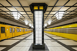Platform of Paracelsus-Bad  subway station in Berlin  Germany