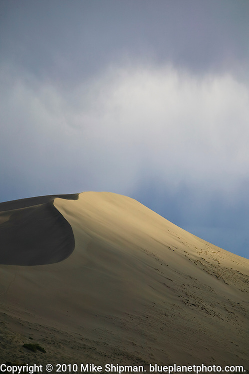 Main dune with shadow and light, Bruneau Dunes State Park, Idaho, Owyhee County
